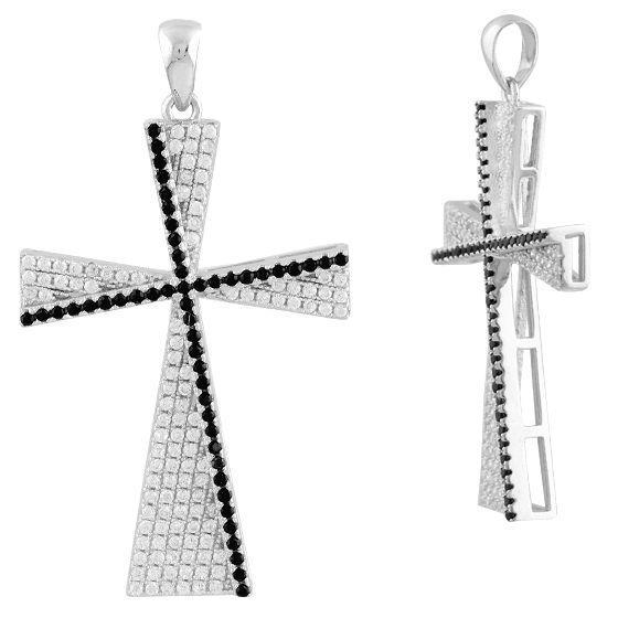 Серебряный крестик DreamJewelry с фианитами (1583098)