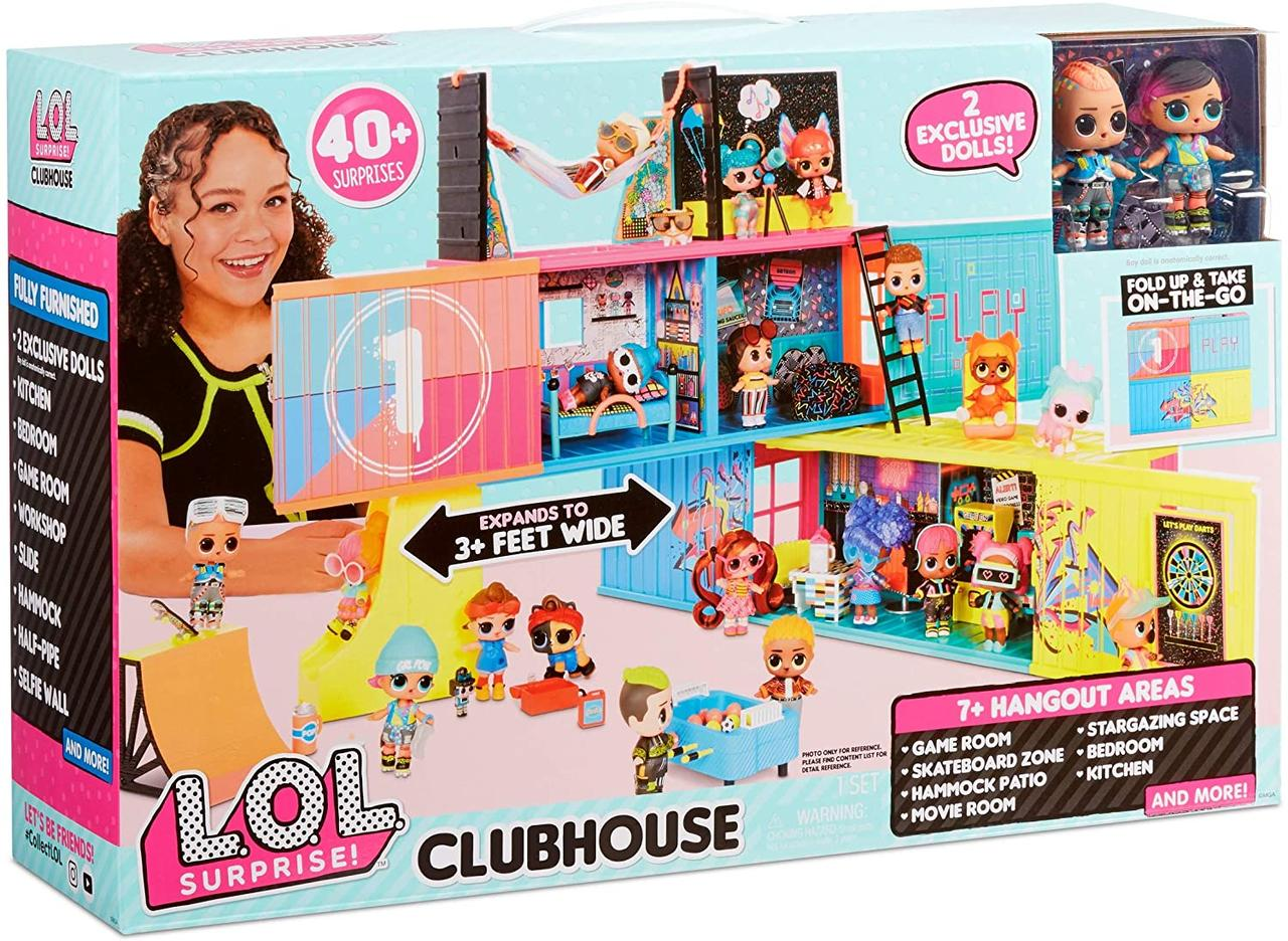 Клубный кукольный дом ЛОЛ L.O.L. Surprise! Clubhouse Playset with 40+ Surprises с 40 сюрпризами и 2 куклами