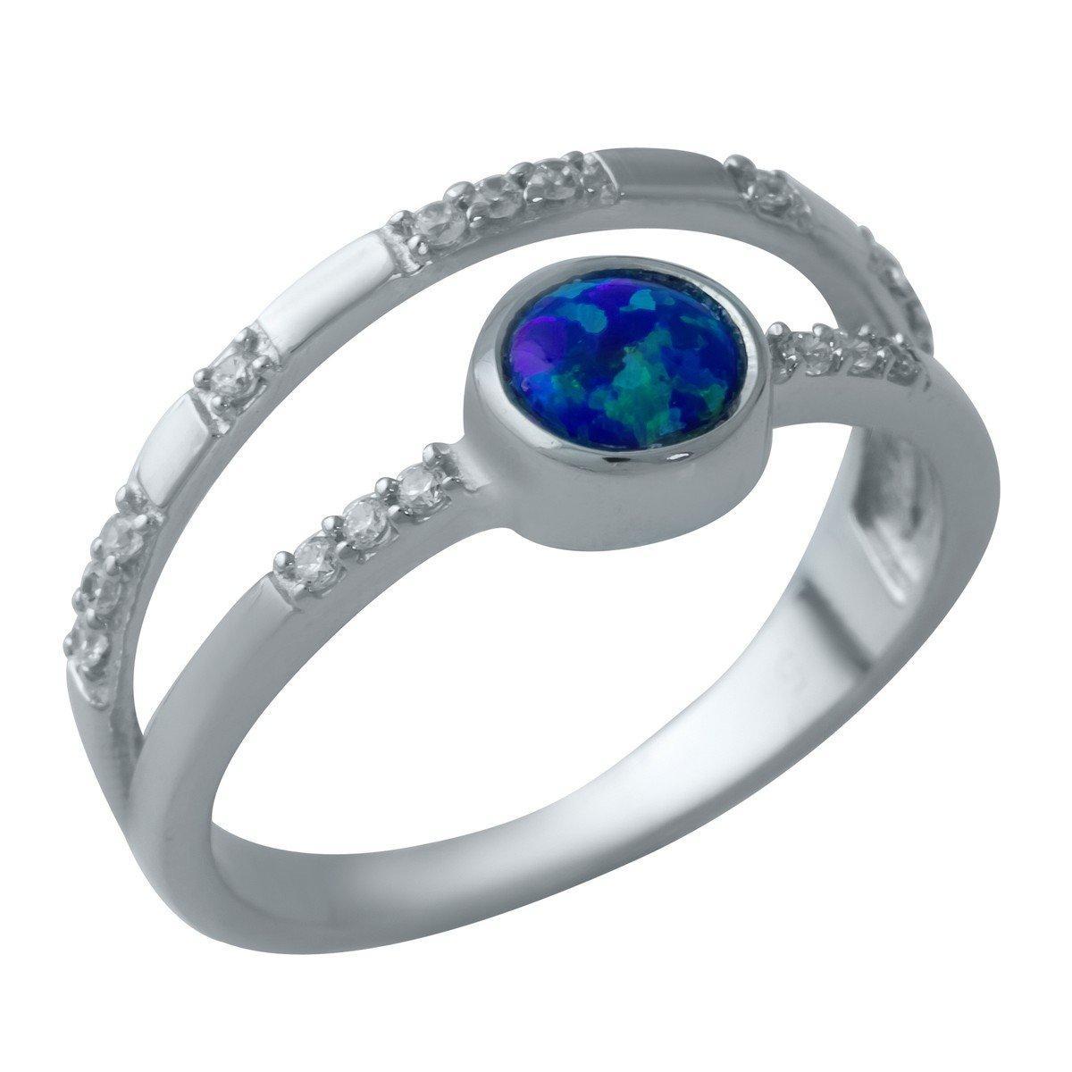 Серебряное кольцо DreamJewelry с опалом 0.52ct (1932599) 18 размер