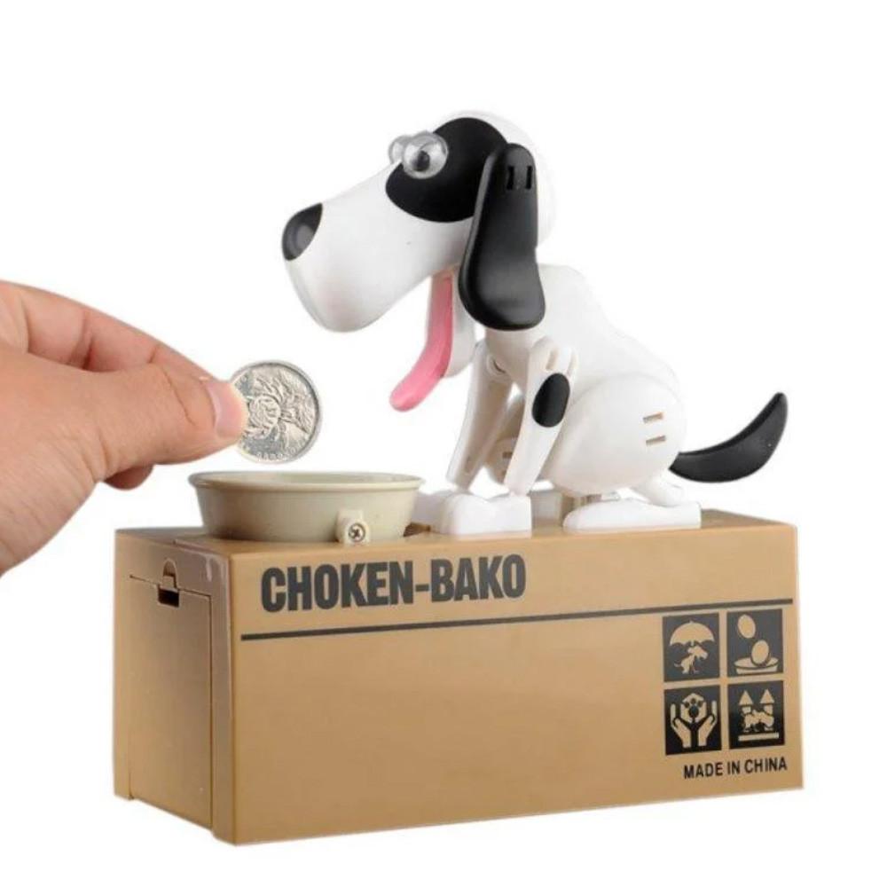 Собака поедающая монеты (копилка) My Dog Piggy Bank, бело-черная