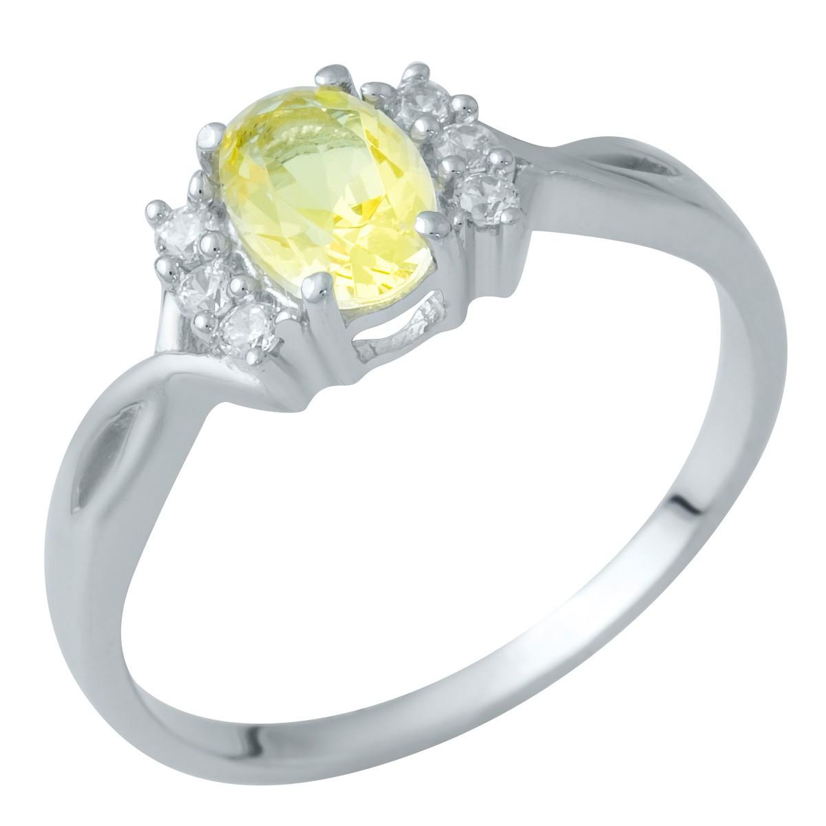 Серебряное кольцо DreamJewelry с цитрином nano (1936108) 18.5 размер