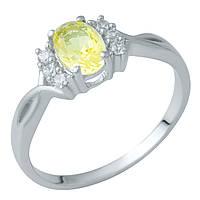 Серебряное кольцо DreamJewelry с цитрином nano (1936108) 18.5 размер, фото 1