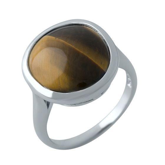Серебряное кольцо DreamJewelry с тигровым глазом (1974247) 18.5 размер