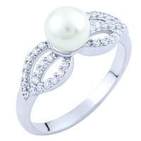 Серебряное кольцо DreamJewelry с натуральным жемчугом (1763322) 17 размер