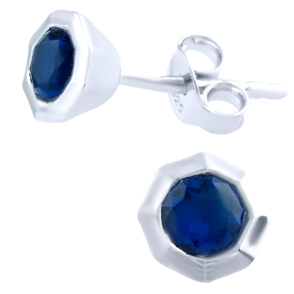 Серебряные серьги DreamJewelry с сапфиром nano (1764527)