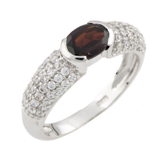 Серебряное кольцо DreamJewelry с натуральным гранатом (1090640) 18 размер