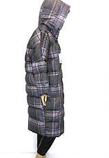 Жіночий зимовий плащ з капюшоном, фото 3