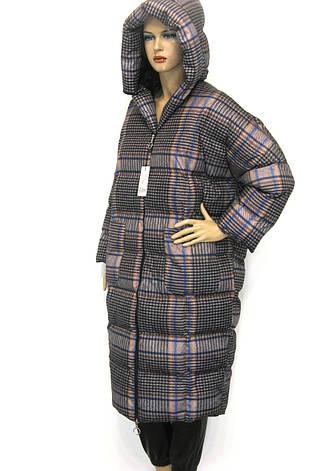 Жіночий зимовий плащ з капюшоном, фото 2