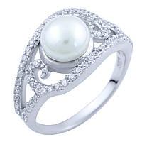 Серебряное кольцо DreamJewelry с натуральным жемчугом (1824016) 17 размер