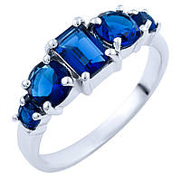 Серебряное кольцо DreamJewelry с сапфиром nano (1825235) 17 размер