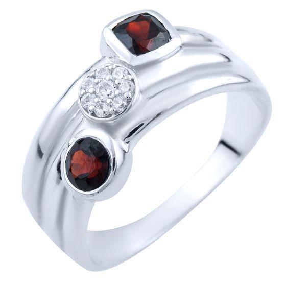 Серебряное кольцо DreamJewelry с натуральным гранатом (1837696) 18 размер