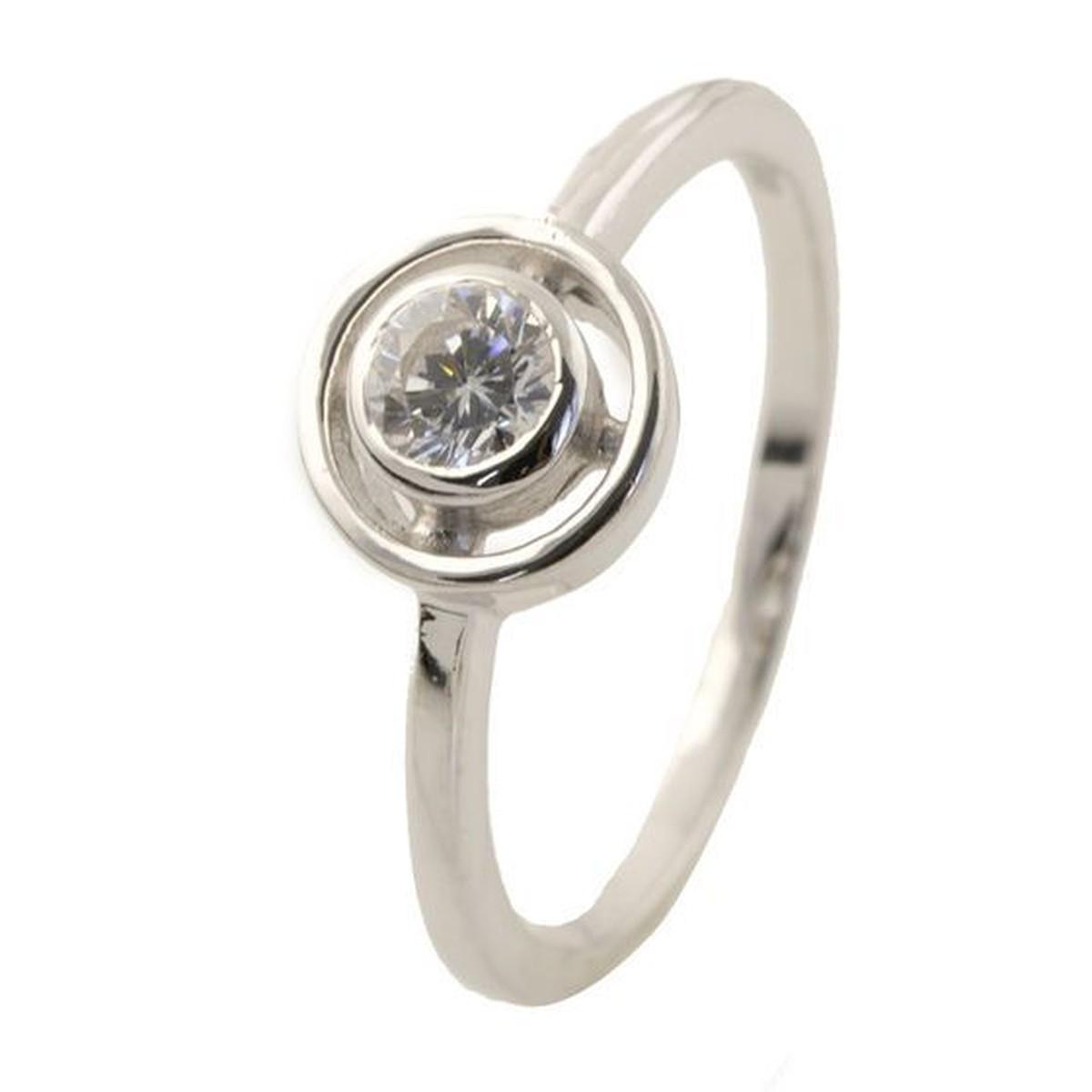 Серебряное кольцо DreamJewelry с фианитами (1145418) 16 размер