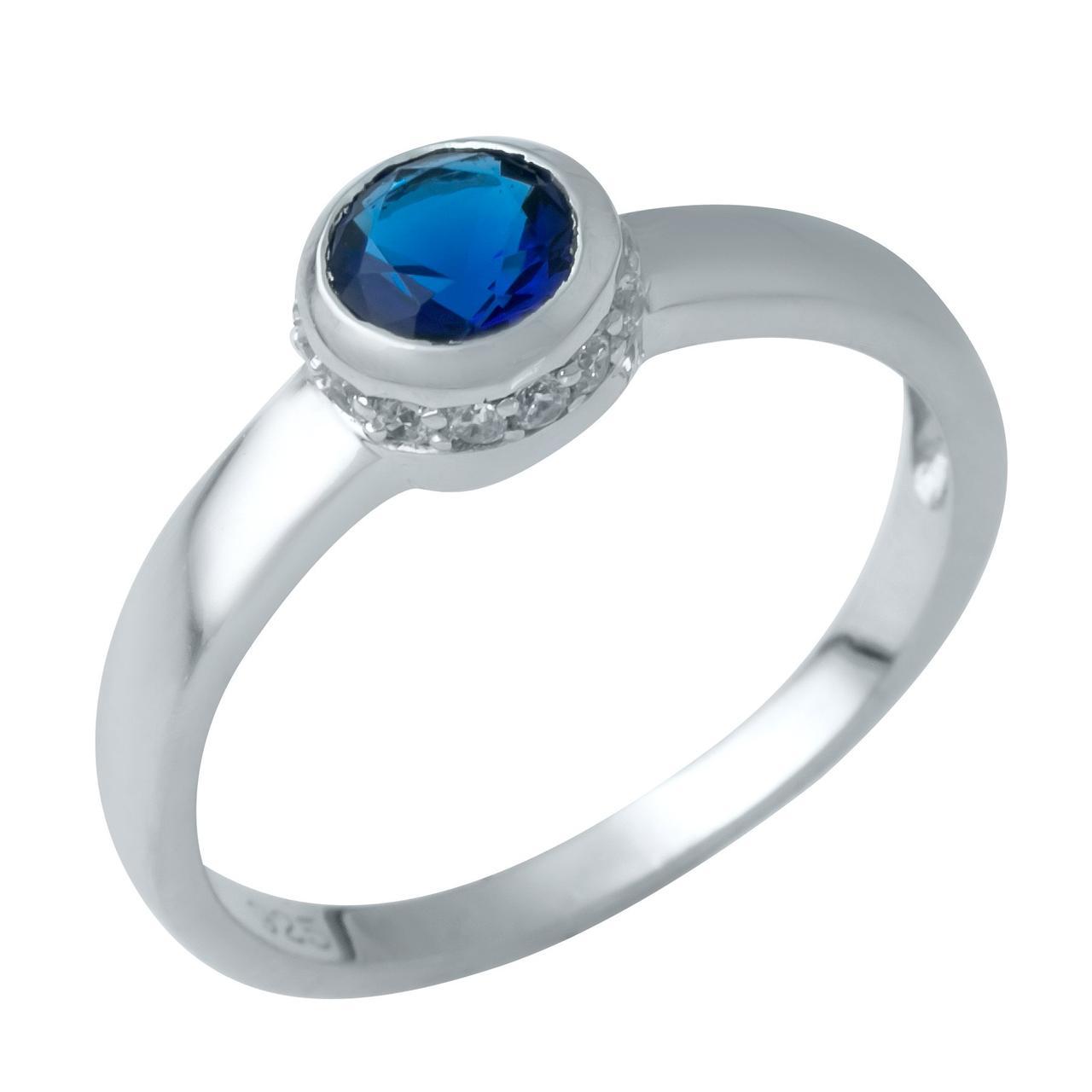 Серебряное кольцо DreamJewelry с сапфиром nano (1946404) 17.5 размер