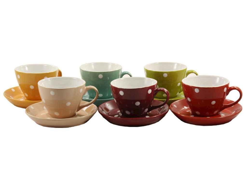 Сервиз чайный Interos Горох MIX 12 предметов  (KW 112)