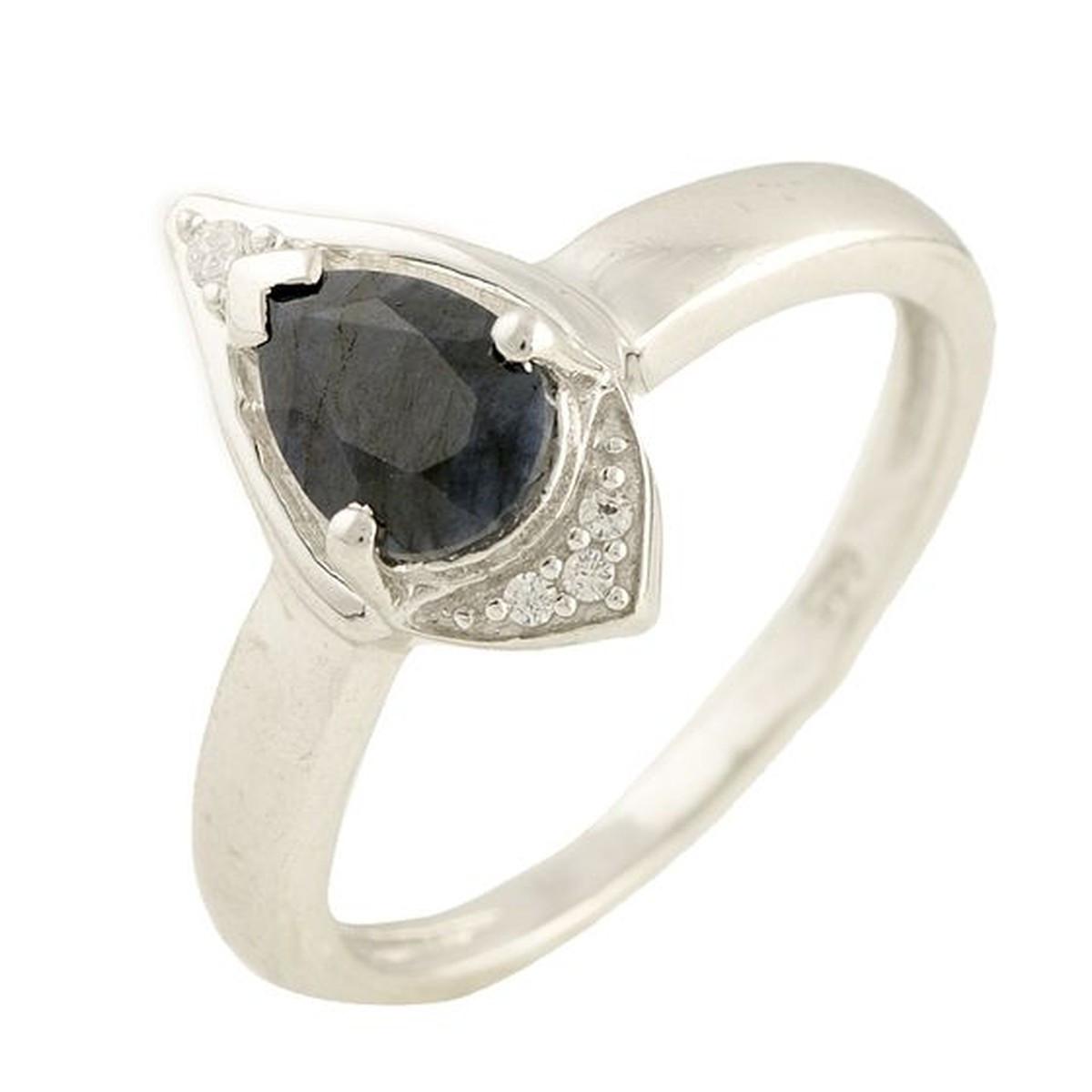 Серебряное кольцо DreamJewelry с натуральным сапфиром (1197516) 18 размер