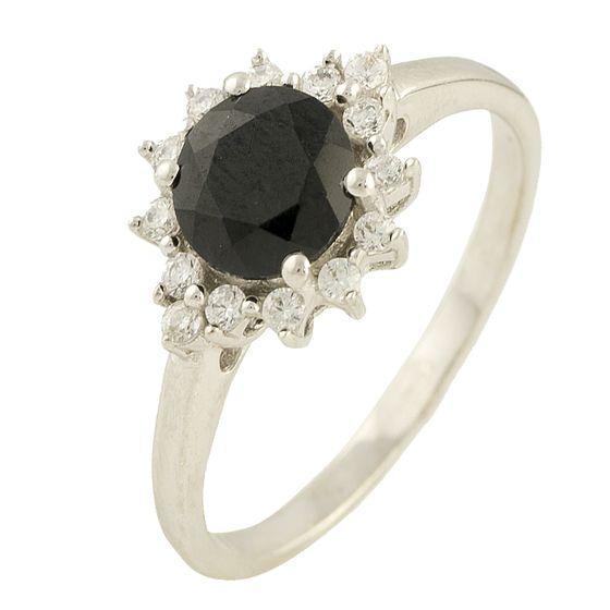 Серебряное кольцо DreamJewelry с натуральным сапфиром 1.18ct (1197752) 18 размер