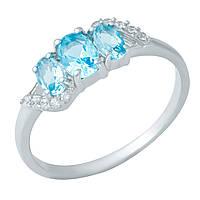 Серебряное кольцо DreamJewelry с аквамарином nano (1948774) 17.5 размер, фото 1