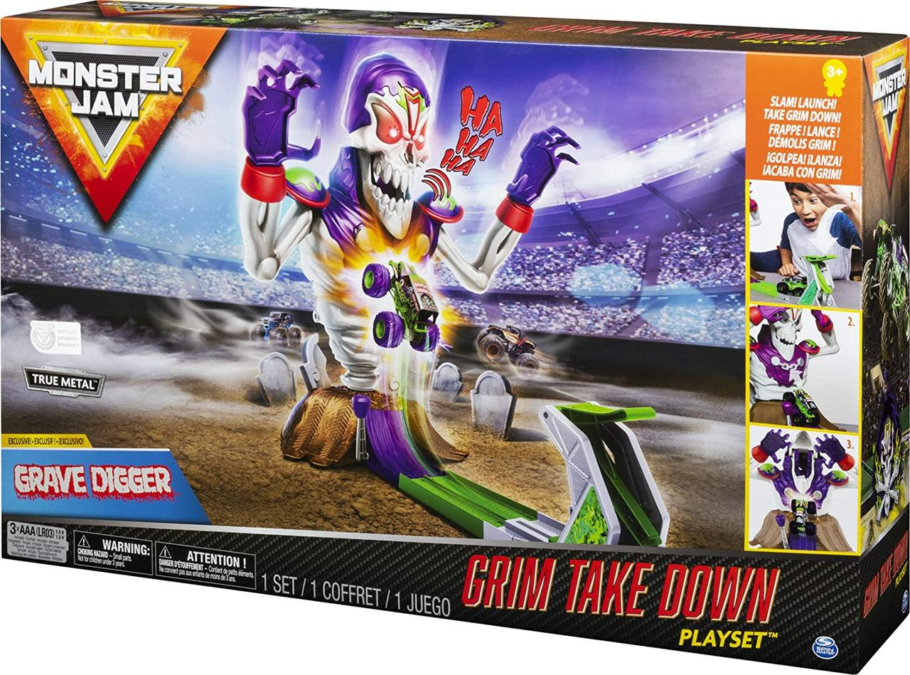 Игровой набор Монстер Джем со звуками и огнями Monster Jam Grim Takedown
