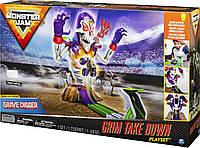 Игровой набор Монстер Джем со звуками и огнями Monster Jam Grim Takedown, фото 1