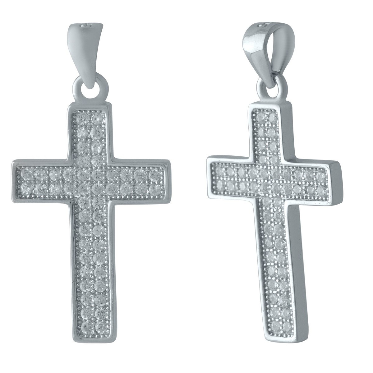 Серебряный крестик DreamJewelry с фианитами (1216637)