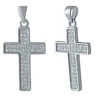 Серебряный крестик DreamJewelry с фианитами (1216637), фото 1