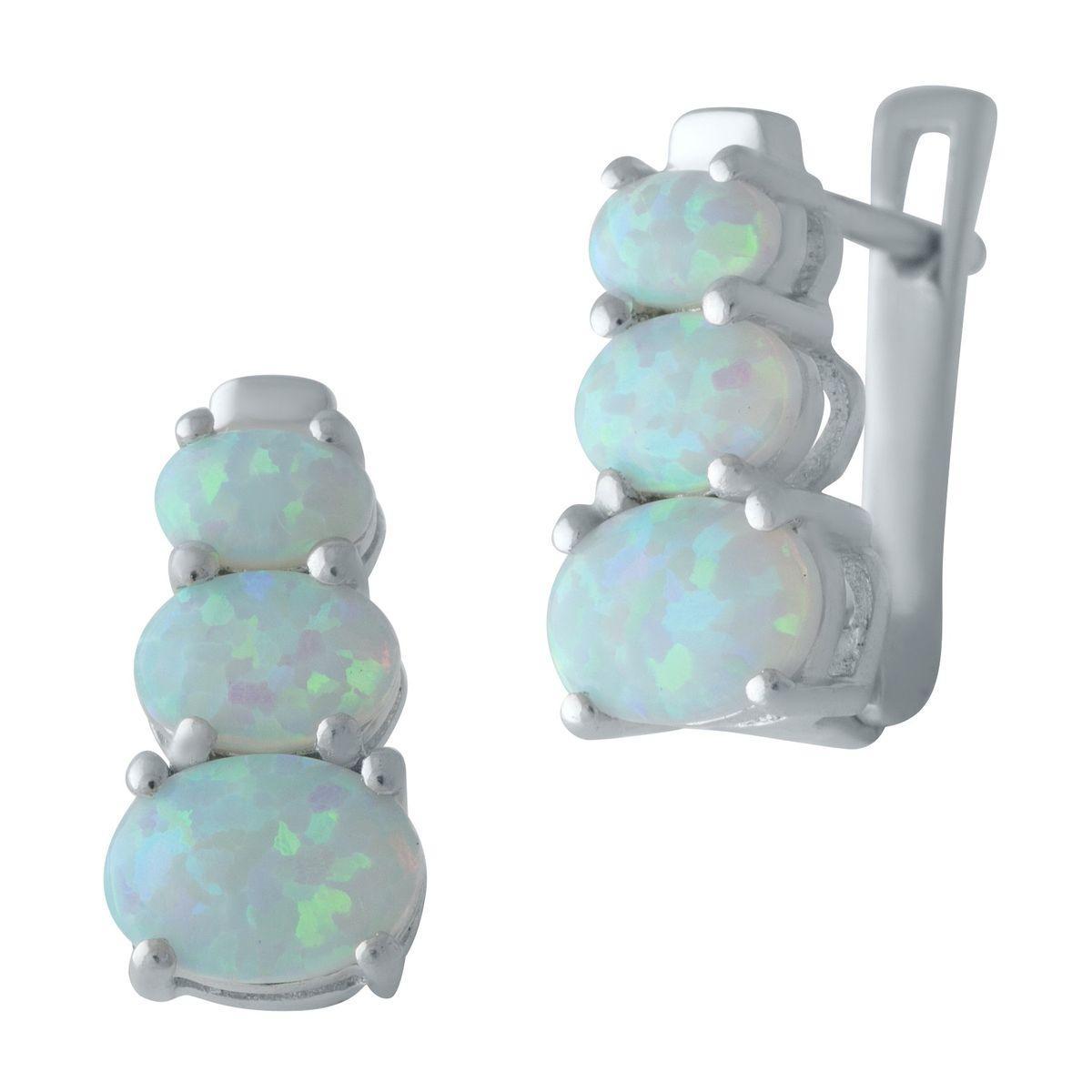 Серебряные серьги DreamJewelry с опалом (2009405)