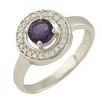 Серебряное кольцо DreamJewelry с натуральным аметистом (1229378) 16.5 размер