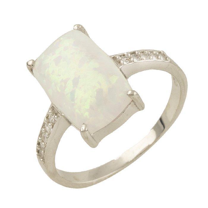 Серебряное кольцо DreamJewelry с опалом 1.76ct (1301104) 18 размер