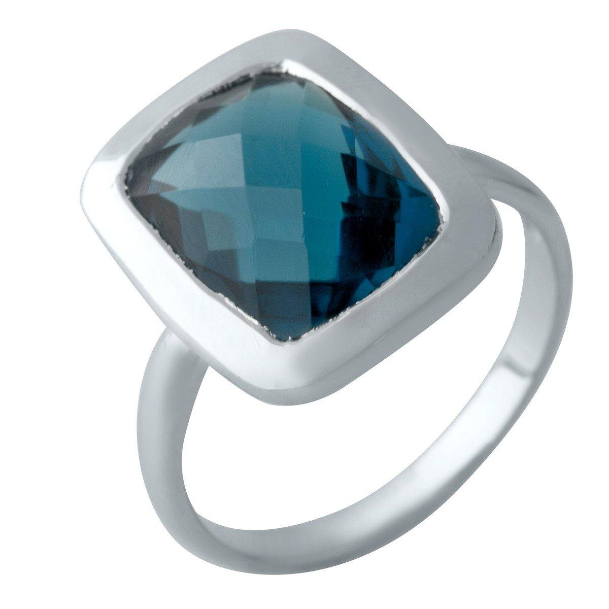 Серебряное кольцо DreamJewelry с натуральным топазом Лондон Блю 4.875ct (2012436) 18 размер