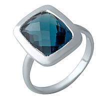 Серебряное кольцо DreamJewelry с натуральным топазом Лондон Блю 4.875ct (2012436) 18 размер, фото 1