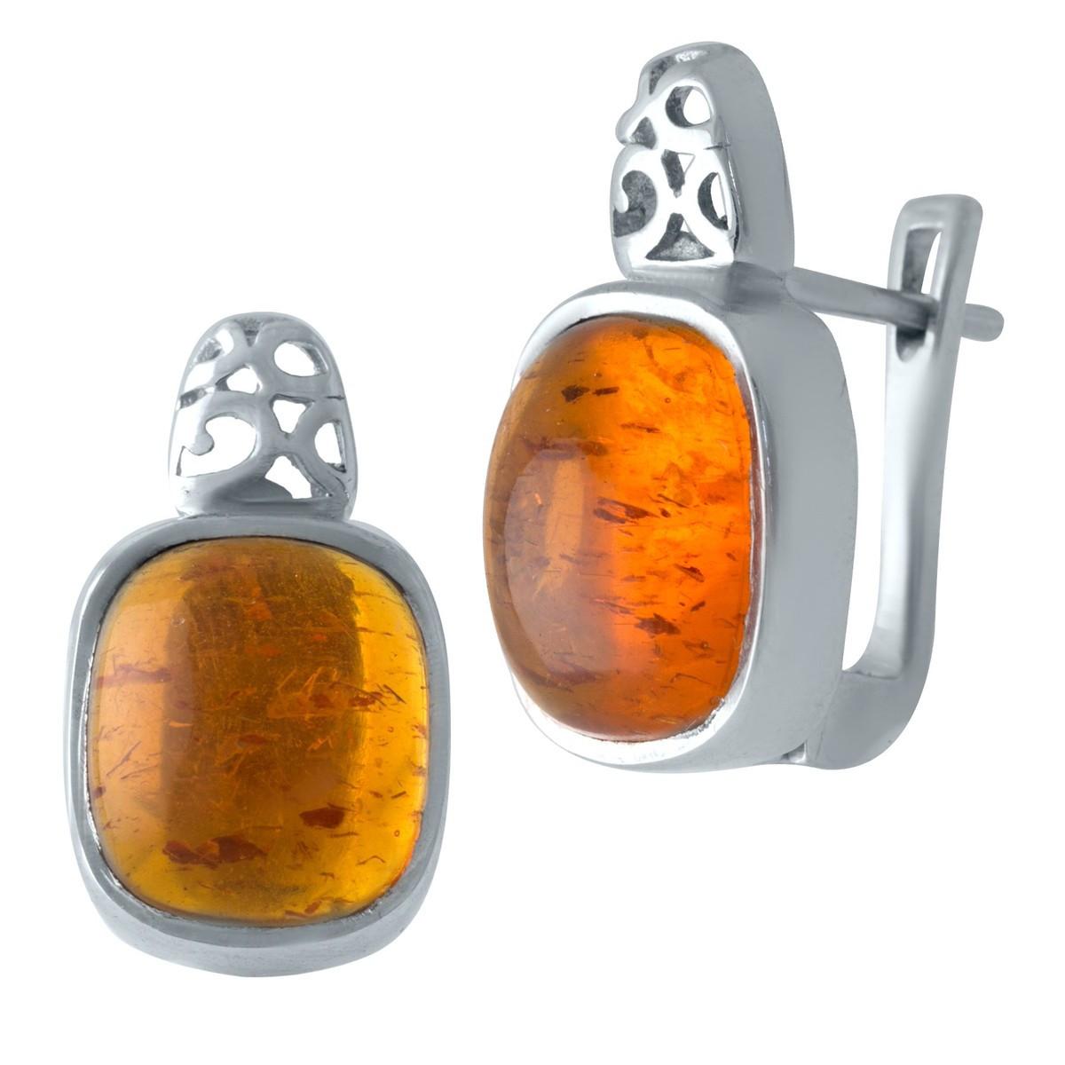 Серебряные серьги DreamJewelry с янтарем (1913086)
