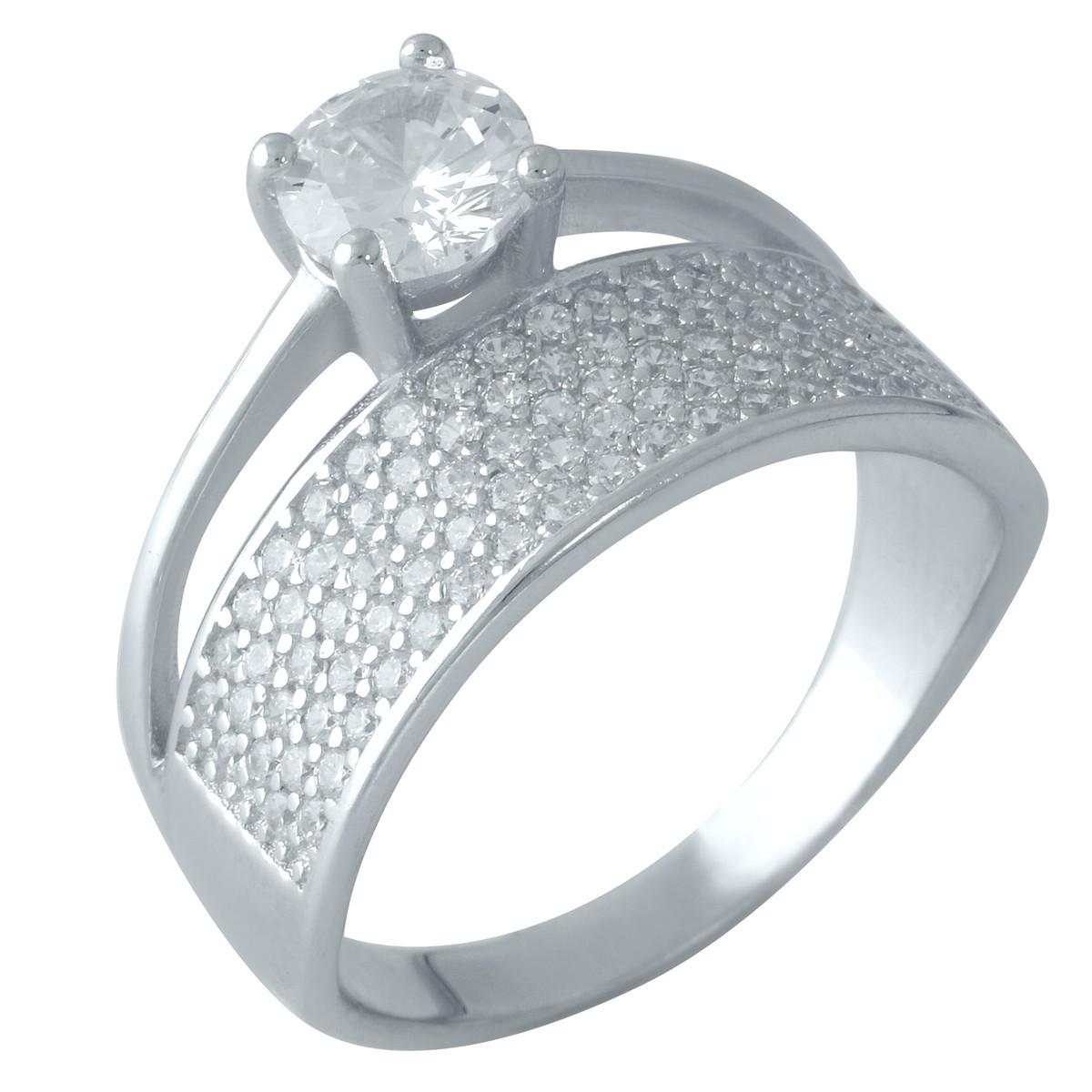 Серебряное кольцо DreamJewelry с фианитами (1955826) 16 размер