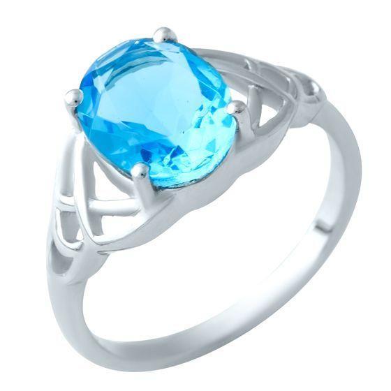 Серебряное кольцо DreamJewelry с аквамарином nano (1917633) 17 размер