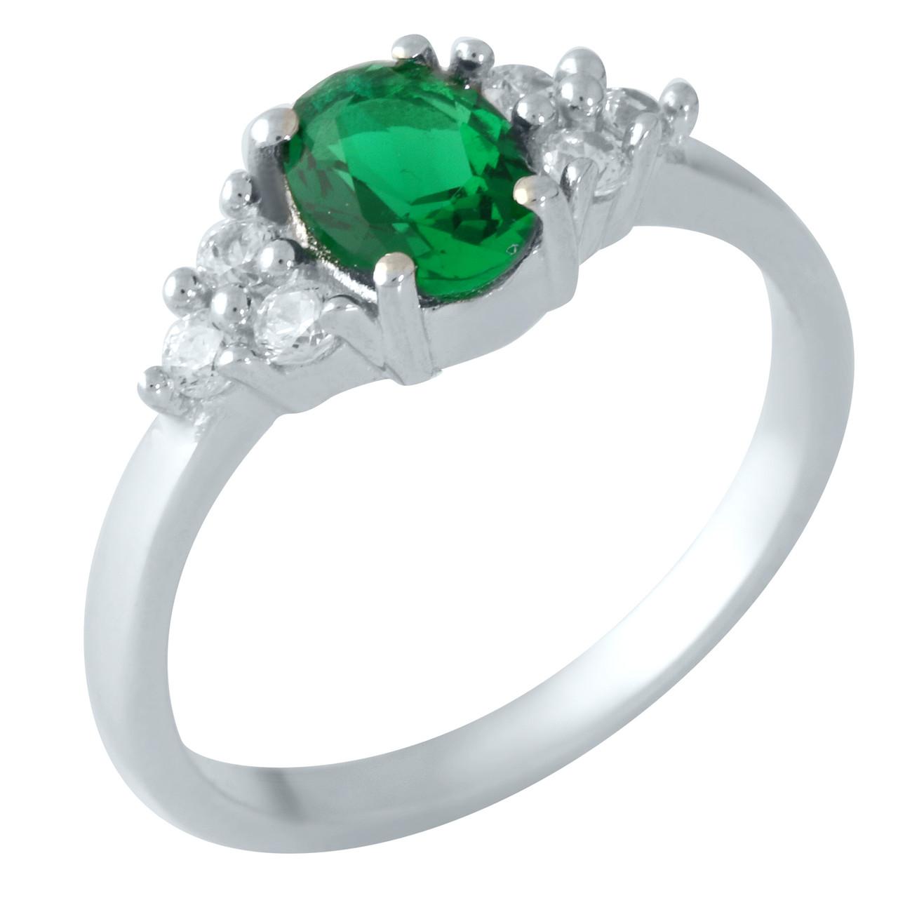 Серебряное кольцо DreamJewelry с изумрудом nano 0.995ct (1957554) 17.5 размер