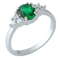 Серебряное кольцо DreamJewelry с изумрудом nano 0.995ct (1957554) 17.5 размер, фото 1