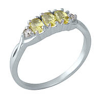 Серебряное кольцо DreamJewelry с цитрином nano (1957639) 17 размер, фото 1