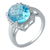 Серебряное кольцо DreamJewelry с аквамарином nano (1994566) 18 размер