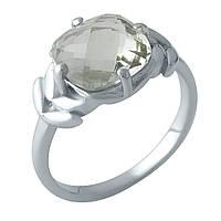 Серебряное кольцо DreamJewelry с натуральным зеленим аметистом (1995419) 17 размер