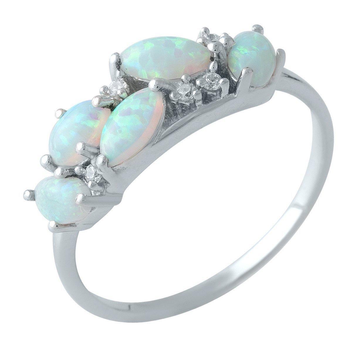 Серебряное кольцо DreamJewelry с опалом 0.725ct (1998847) 18.5 размер