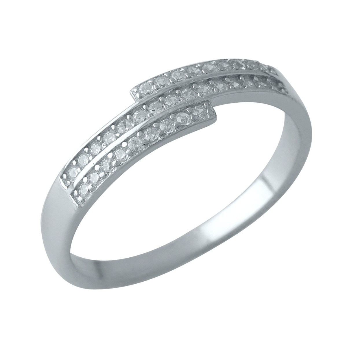 Серебряное кольцо DreamJewelry с фианитами (1999318) 18 размер
