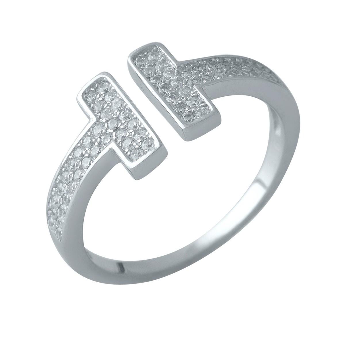 Серебряное кольцо DreamJewelry с фианитами (1999349) Регулируемый размер