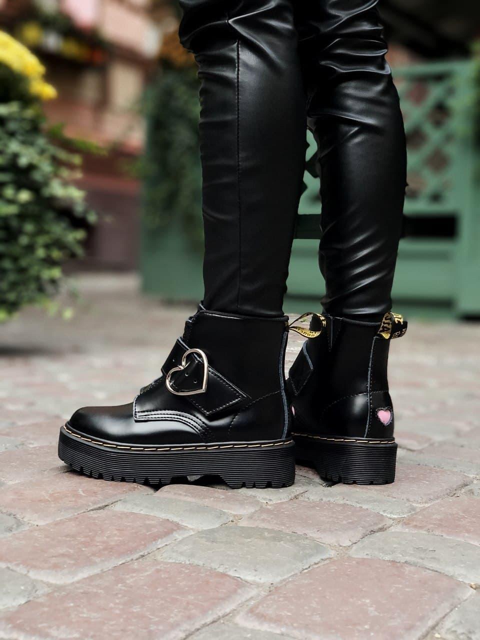 Женские  ботинки Dr. Martens x Lazy Oaf (+) черные (копия)