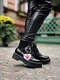 Женские  ботинки Dr. Martens x Lazy Oaf (+) черные (копия), фото 6
