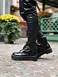 Женские  ботинки Dr. Martens x Lazy Oaf (+) черные (копия), фото 5
