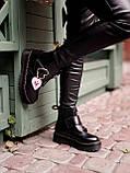 Женские  ботинки Dr. Martens x Lazy Oaf (+) черные (копия), фото 7