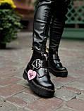 Женские  ботинки Dr. Martens x Lazy Oaf (+) черные (копия), фото 8