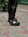 Женские  ботинки Dr. Martens x Lazy Oaf (+) черные (копия), фото 9