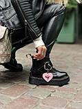 Женские  ботинки Dr. Martens x Lazy Oaf (+) черные (копия), фото 10