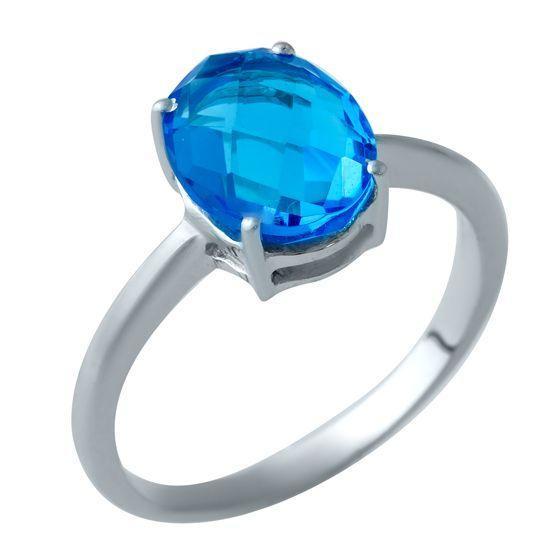Серебряное кольцо DreamJewelry с аквамарином nano (1929605) 16.5 размер