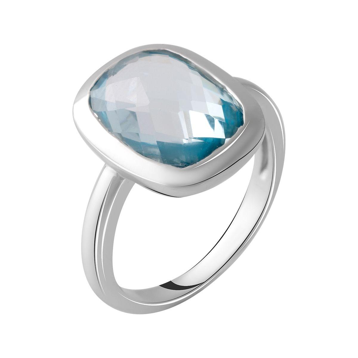 Серебряное кольцо DreamJewelry с натуральным топазом 7.33ct (2049487) 18 размер